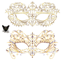 Mask venetian carnival with jewelry ornament by Lyotta