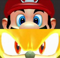 Super Mario + Super Sonic eyes by Mario64Luigi