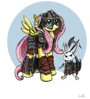 Fluttershy - Dragonborn by TheLivingShadow