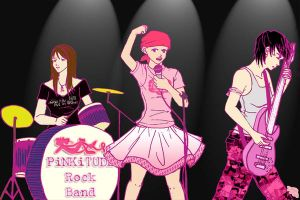 Pinkitude Rock Band by capriangel