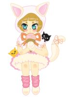 Request for a TM user: Kitty girl with ice cream by HannahMeyers