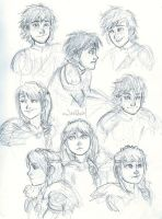 Hiccup and Astrid by Eyedowno