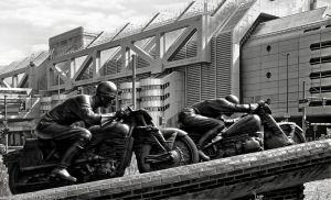 Motorcycle Driver Monument by pingallery