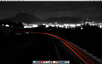 Dark Themed Mac Desktop by NerdBrat