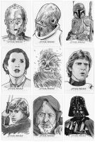 Star War sketch cards - 1 by 93Cobra