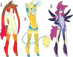 Ponygirl Adoptables 2 - 1 Open by Kurodoptables
