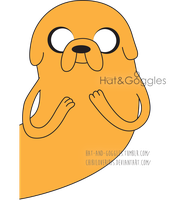 DailyDrawing #9 Jake the Dog colored vector by hat-and-goggles