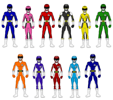 Comission - Power Rangers Sports Skill by Kaiserf11