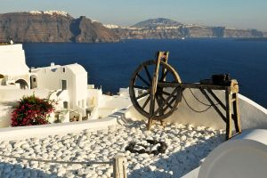 Santorini rooftop 1 by wildplaces