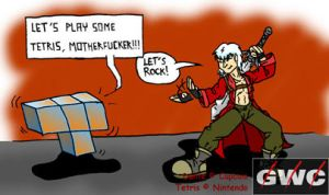 Tetris V.S. Devil May Cry by BD-Ghis