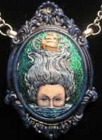 Calypso lady of the sea painted cameo. by slinkskull