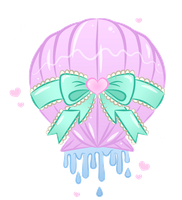 Kawaii Melty Sea Shell by MissJediflip