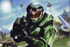 Halo Pixel Art by BannerWolf