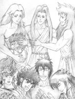 Saint Seiya - Masters and pupils by Gugaaa