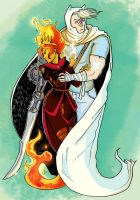 Finn The Hero and Flame Queen by Galwin