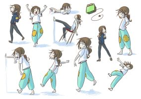 Poses by Doodler-Bunny