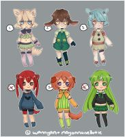 Kemonomimi Collab Adopts [OPEN] by WanNyan
