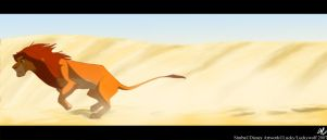 Running Across the Desert by sketchinthoughts