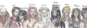 Greek gods and goddesses by bonnielass221