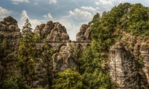 The Bastei Bridge by pingallery
