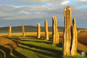 Scottish landscapes - Ring Of Brodgar, Orkney by muzski