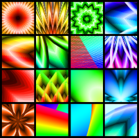 Gradient-Fractal Icon Set by Idellechi