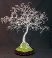 HAMMERED LEAVES BONSAI - Wire Tree Sculpture by SalVillano