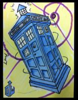 Sketch Card:  The TARDIS by KnoppGraphics