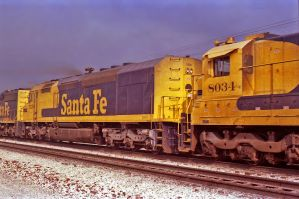 ATSF 5250 Gallup, NM 1989 by eyepilot13