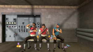 SFM: Scout Hang out by TheCrimsonLoomis