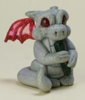 Silver Pixie Dragon Gargoyle by The-GoblinQueen
