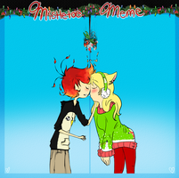 Mistletoe Meme - Genderbent Pair by Ask-Fia