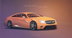 OLD Mercedes S-class Coupe //orange by GLoRin26