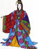 Ashikaga Court Lady by myloko