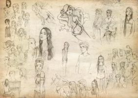 five months worth of sketches by joshcmartin