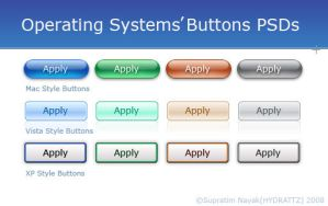 Operating Systems Buttons PSDs by HYDRATTZ