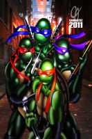 TMNT by Cahnartist
