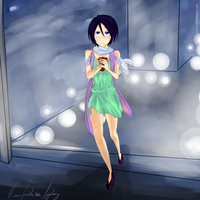 Rukia: Lights by RainFieldBlossoms