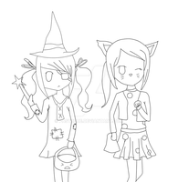 Halloween Lineart by pastiique