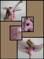 Pink and Gold dragonfly pony 2 by Sweetlittlejenny