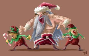 evil santa and his elf03 by yen-wen-hsieh