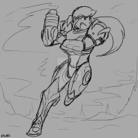 Samus Aran Sketch by Inkblot-Rabbit
