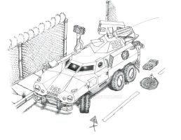 Diatryma Armored Car by Malcadon