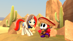 Micthemicrophone and Sombrero Shy Guy by ata64