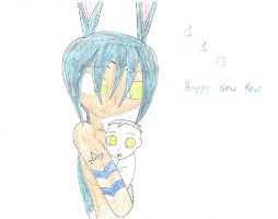 Bunnymund and the New Year Baby Snake by WarriorNun