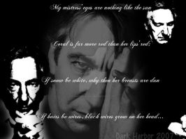 Alan Rickman Wallpaper by theswallowii