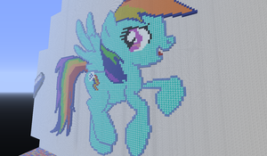 Rain bow dash pixel art by BannerWolf