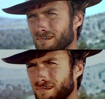Clint Eastwood - before after by B-D-I