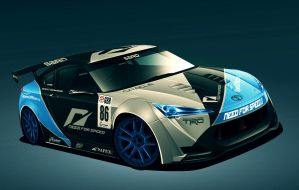 Team NFS GT3 FT86 concept by Blitz-Wing