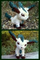 Leafeon Plush by PrinceofPride